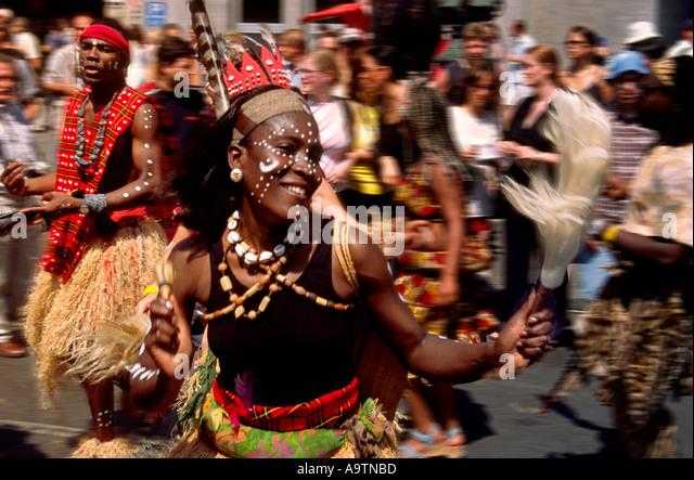 Carnival of cultures brasilian dancer - Stock-Bilder