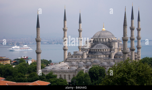 Turkey Istanbul the Blue Mosque - Stock Image