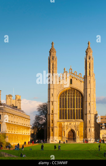 UK, England, Cambridgeshire, Cambridge, The Backs, King's College Chapel - Stock-Bilder