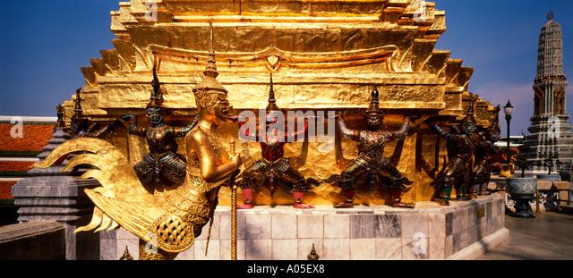 Thailand Bangkok Grand Palace Wat Phra Keo - Stock Image