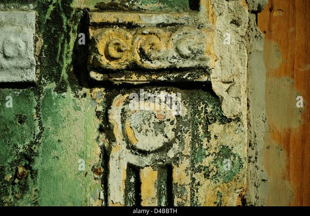 Architekturdetail an Fassade im Pelourinho, Salvador da Bahia. - Stock-Bilder