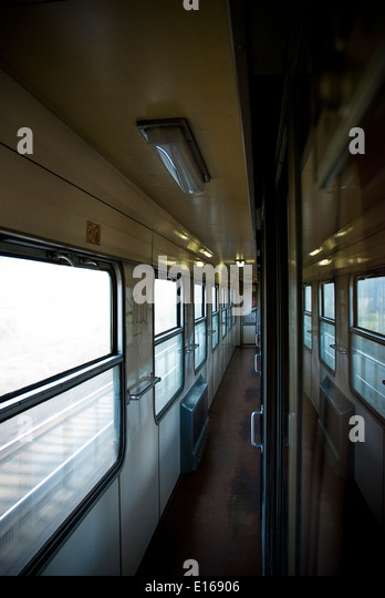 Czech railways intercity train corridor - Stock-Bilder