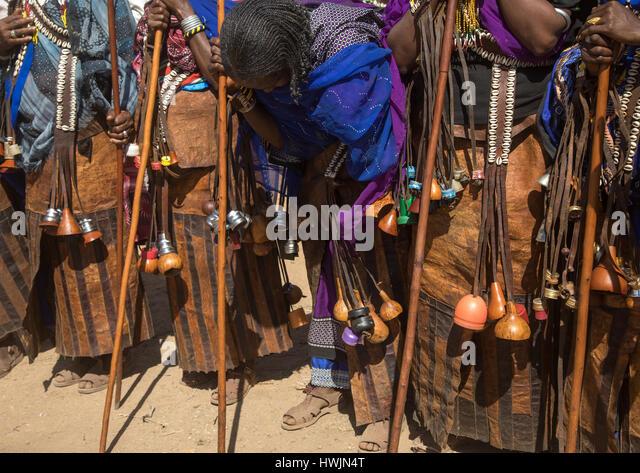 During the Gada system ceremony in Borana tribe, Oromia, Yabelo, Ethiopia - Stock-Bilder