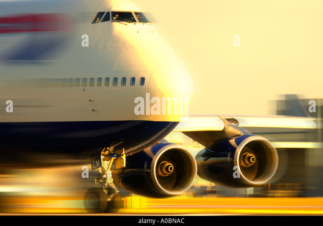 Jumbo jet Boeing 747 of British Airways - Stock Image