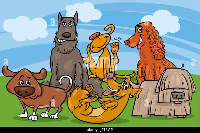 Pets dog illustration cartoon maddening stock photos