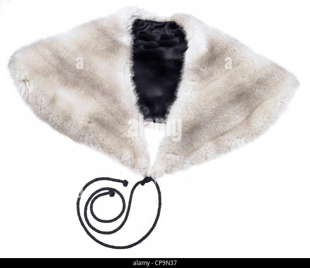 fake fur stole - Stock Image