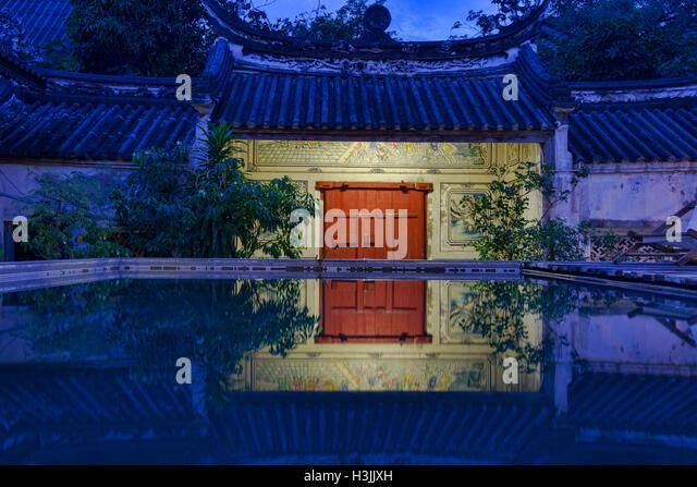 The Sou Heng Tai teakwood Chinese house, Bangkok, Thailand - Stock Image