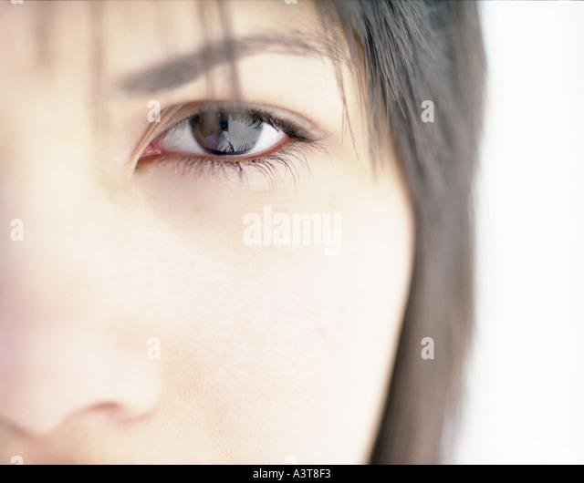 womans eye photographed frontally one eye - Stock-Bilder