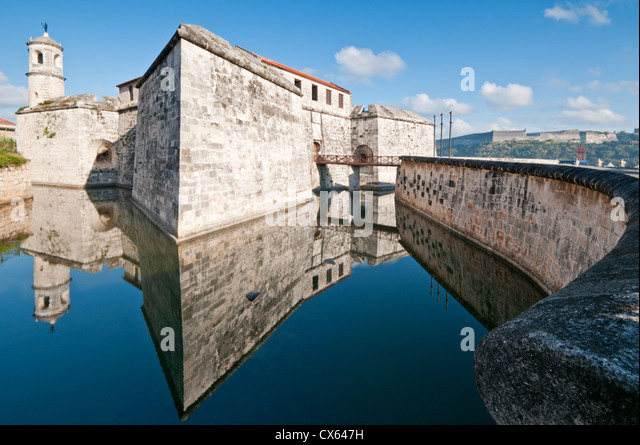 Castillo de la Real Fuerza, Habana Vieja, Havana, Cuba, Caribbean - Stock Image