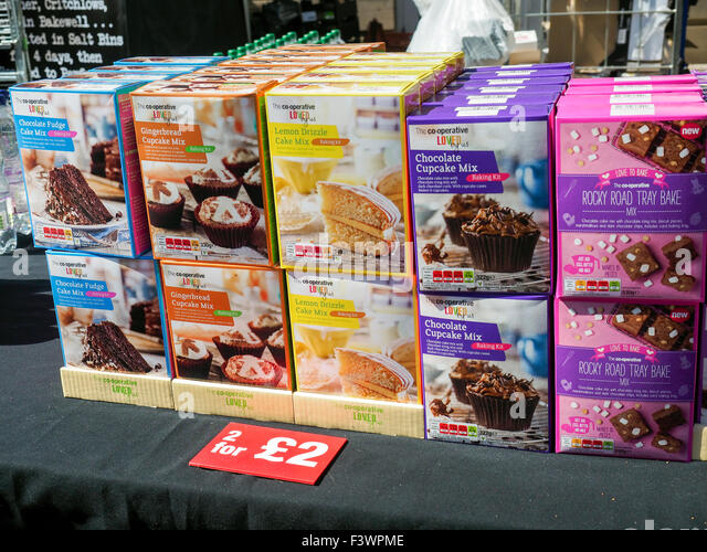 Food festival in Bakewell Derbyshire England - Stock Image