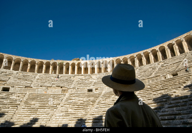 Aspendos Antique Theater in Antalya Turkey - Stock Image