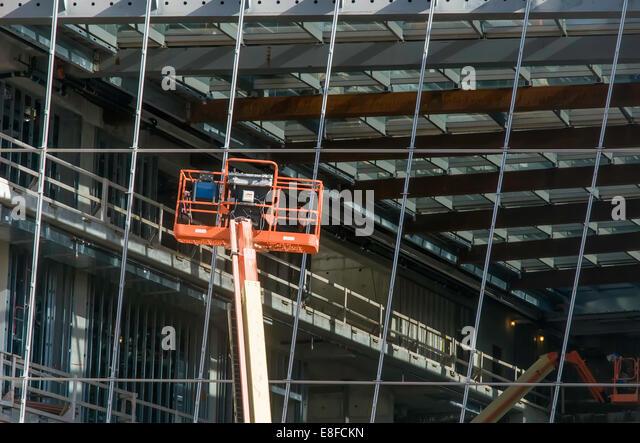 USA, Illinois, Cook County, Evanston, Construction site - Stock-Bilder