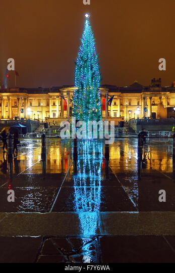Christmas Xmas Lights Reflection Stock Photos & Christmas Xmas Lights ...