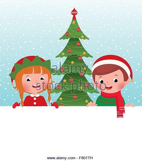 Cartoon cute elf blank stock photos