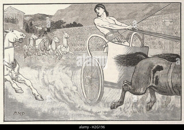 CLISTHENES AT THE OLYMPIC GAMES - from 'Cassell's Illustrated Universal History' - 1882 - Stock Image
