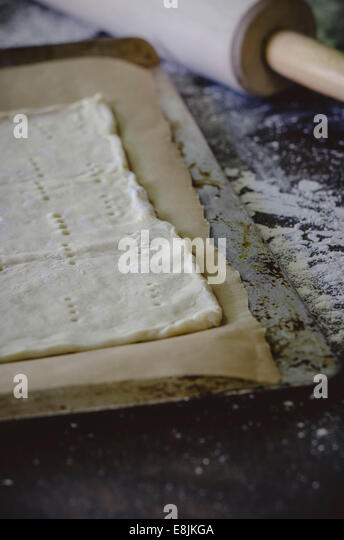 Crust with Rolling PIn - Stock Image