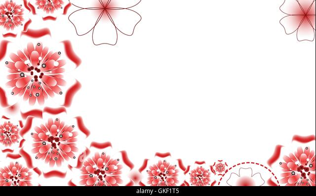 Brochure design, vector abstract background with beautiful colored flower pattern - Stock-Bilder