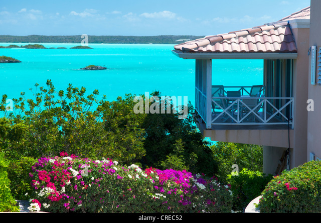 House on chalk sound. Providenciales. Turks and Caicos - Stock-Bilder