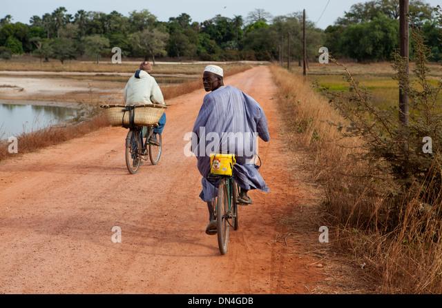 Early morning travel in Senegal, West Africa. - Stock-Bilder