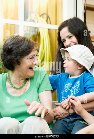 Persons outside - Stock Image