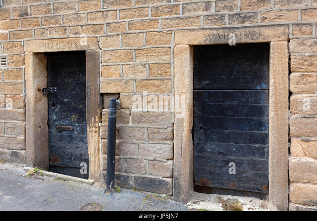 The old village lock-ups, Luddenden, West Yorkshire - Stock Image