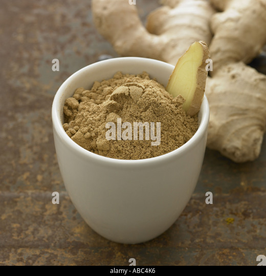 Ginger - one of a series of spice images - Stock Image