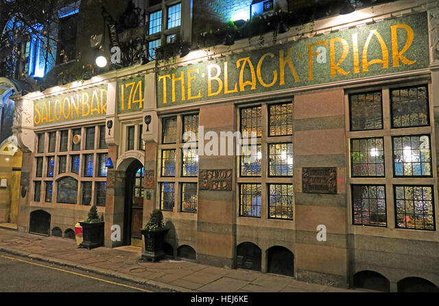 The Black Friar, Blackfriars, London, England, UK at night, 174 - Stock Image