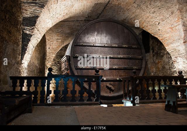 Enormous Wine Cellar : Giant wine barrel stock photos