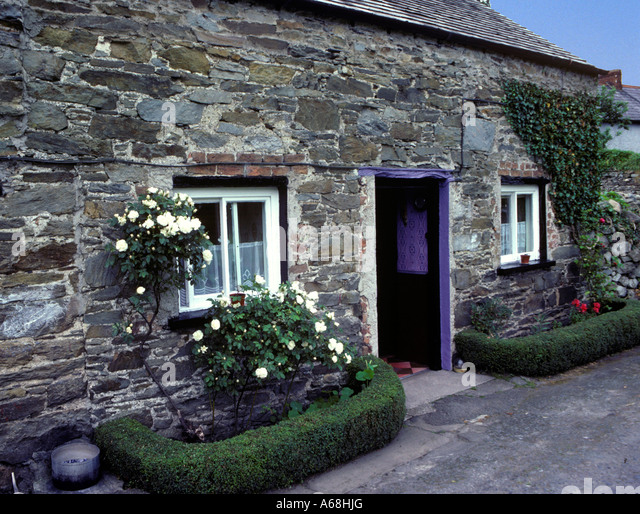 Stone cottage Ramelton Conty Donegal Ireland - Stock Image