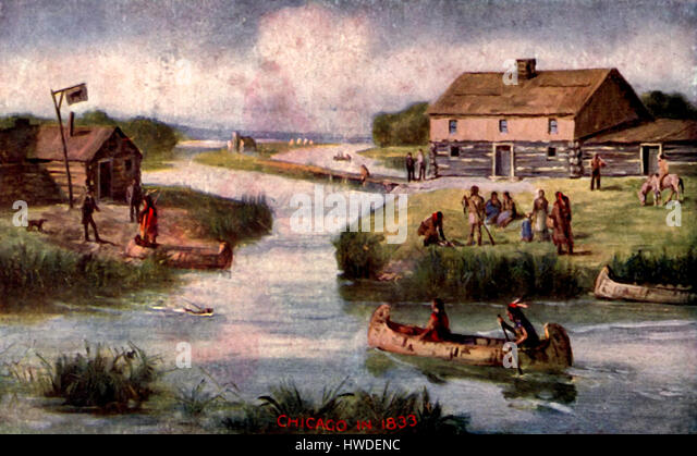 Chicago in 1833 - Stock-Bilder