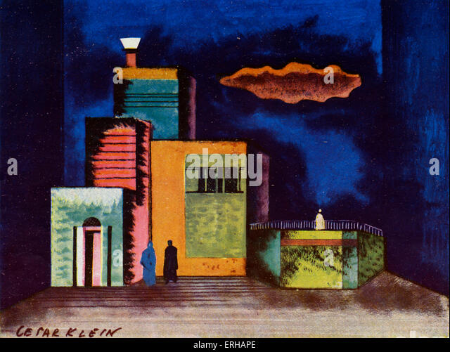 Tis a Pity She's a Whore, after Cesar Klein (1876-1954). Klein worked on Expressionist set designs for German - Stock Image