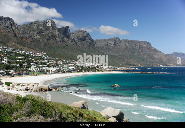 The Twelve Apostles, Camps Bay, Cape Town, Cape Province, South Africa, Africa - Stock Image