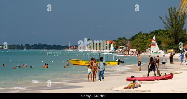 Jamaica Negril beach - Stock Image