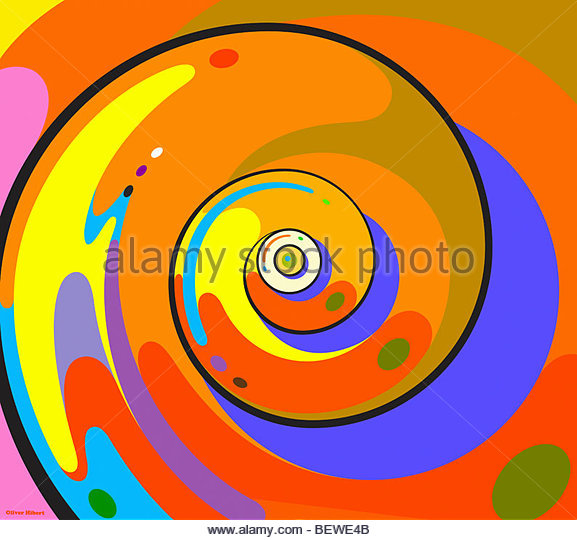 Abstract whirlpool - Stock Image