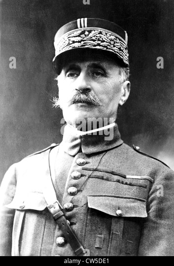 Portrait of French General Foch - Stock Image