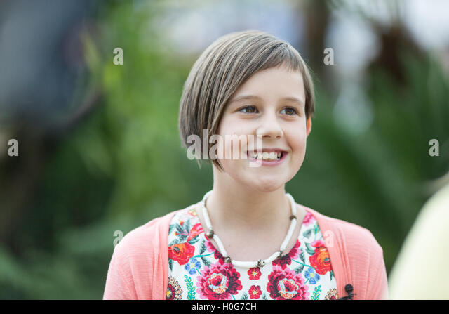 Ruby Barnhill ,English actress, played the lead role of Sophie in Steven Spielberg's 2016 film The BFG. Pictured - Stock-Bilder
