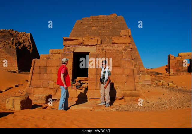 Pyramids, Meroe, Sudan, Africa - Stock-Bilder