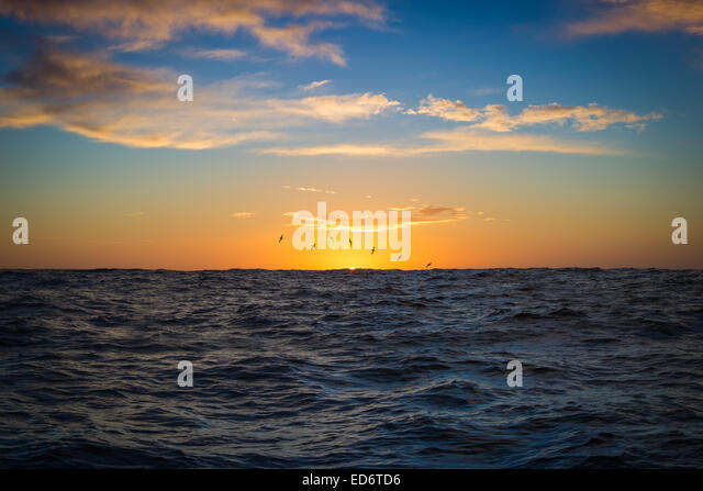 The Spencer Gulf at sunrise - South Australia - Stock-Bilder