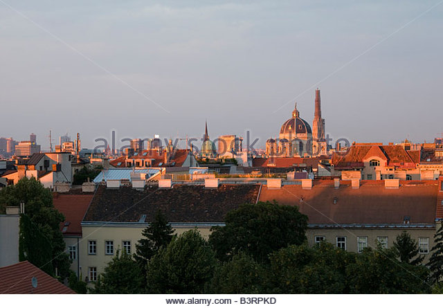 Panorama of Vienna Austria - Stock-Bilder