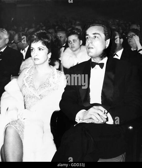 Gina Lollobrigida, Vittorio Gassmann, 28.3.1963 - Stock Image