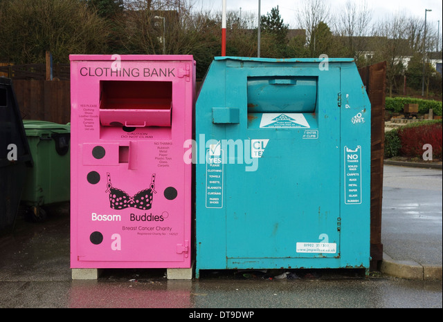 recycling clothing bank - Stock Image