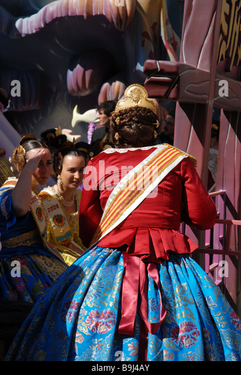 Ninot Figure In Festival Fallas Stock Photos & Ninot Figure In Festival F...