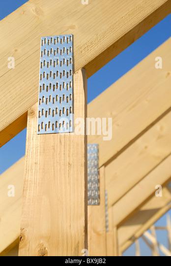 Roof trusses detail - Stock-Bilder