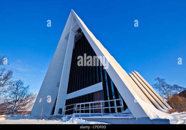 The Arctic Cathedral, Polar church, Tromso, Troms, North Norway, Scandinavia, Europe - Stock Image