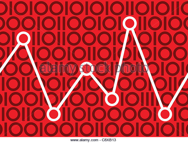 Graph in binary pattern - Stock-Bilder