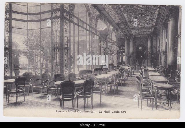 Hotel Continental, Paris, France, Louis XVI Hall - Stock Image