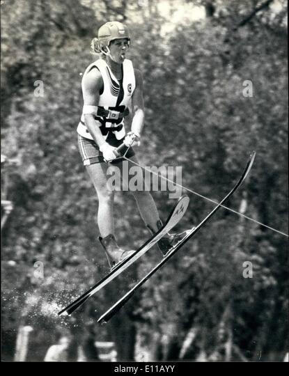 Jul. 07, 1976 - Old spice international water-ski competition at Ruislip.: Photo shows Liz Grabowski, of Denmark, - Stock Image