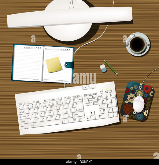 working desk - Stock Image