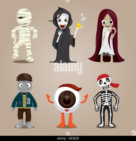 Character Design Kit : Halloween ghost character design set stock photos