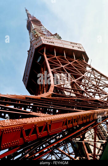AA 6874. Archival 1960s, Tokyo Tower, Japan - Stock Image